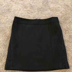Express Short Black Skirt with Lace